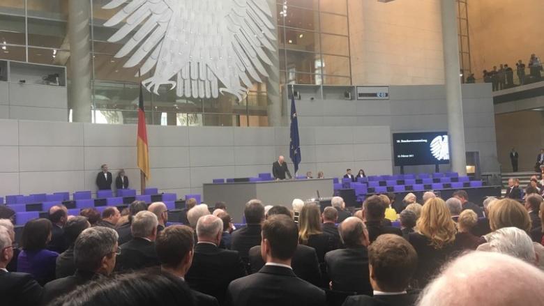 Bundestagspräsident Norbert Lammert eröffnet die Bundesversammlung.