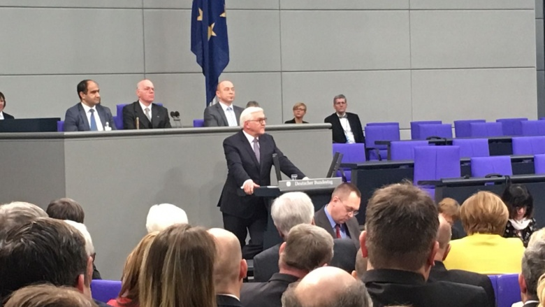 Die Antrittsrede des frisch gewählten Bundespräsidenten Frank-Walter Steinmeier.